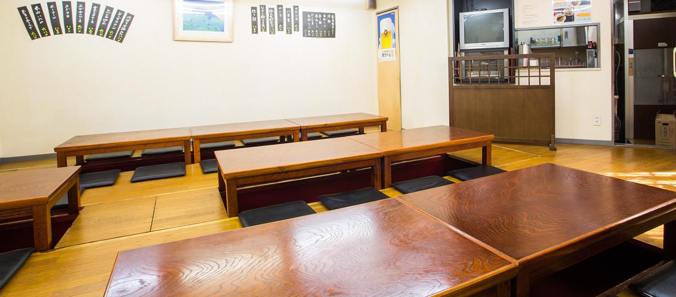 昭和49年創業の歴史 餃子の老舗 店内画像